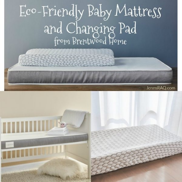 Eco-Friendly Baby Mattress and Changing Pad from Brentwood Home
