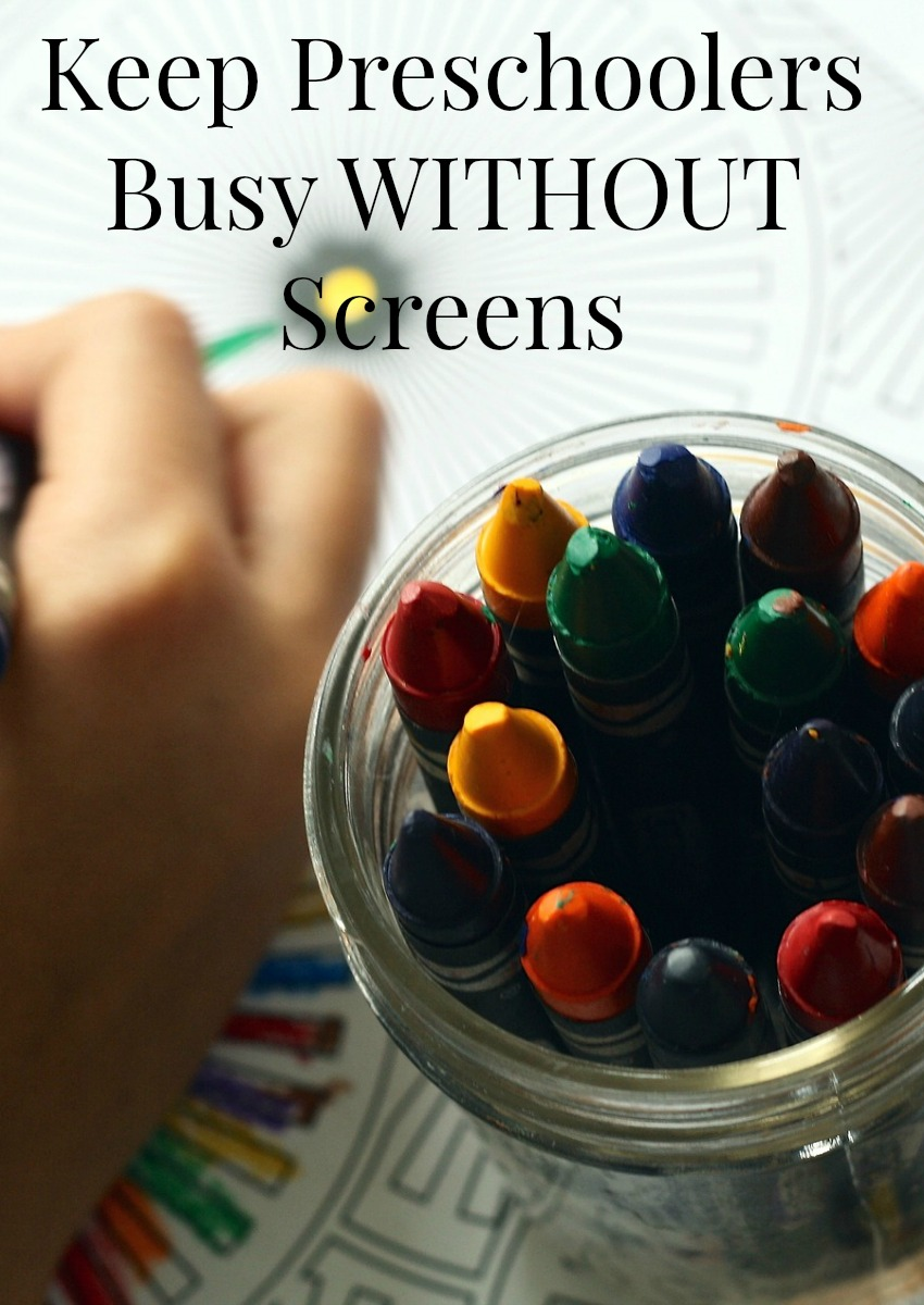 Keep Preschoolers Busy WITHOUT Screens