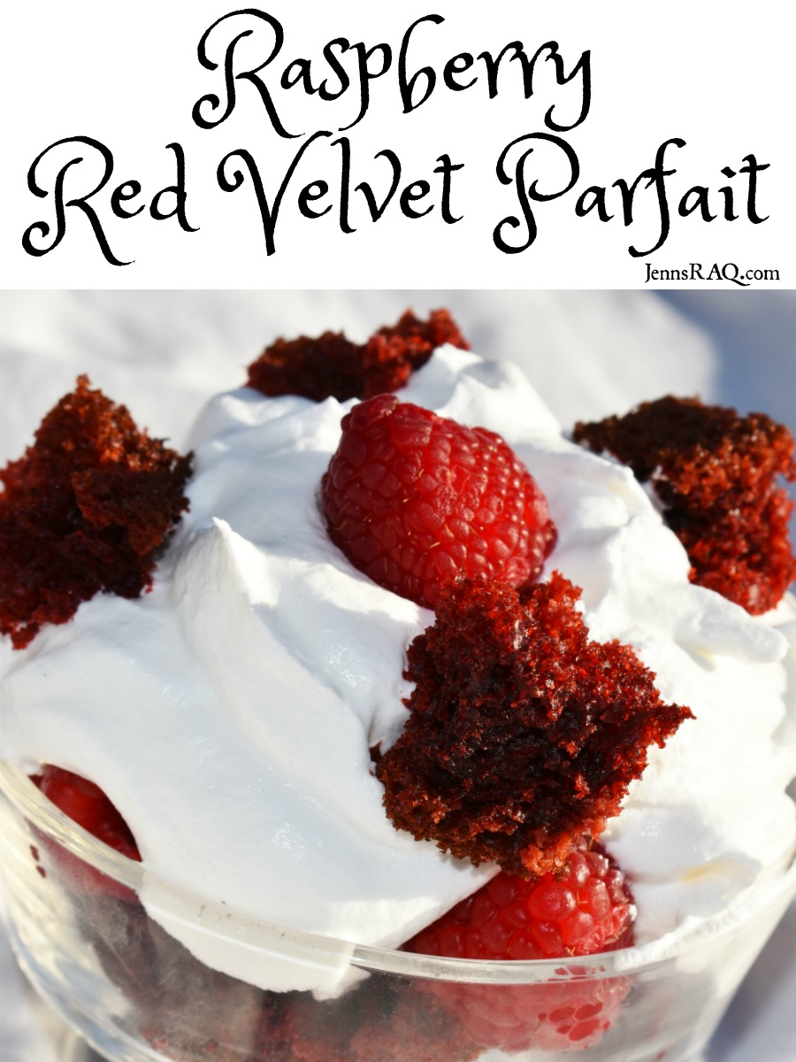 Raspberry Red Velvet Parfait as seen on JennsRAQ.com
