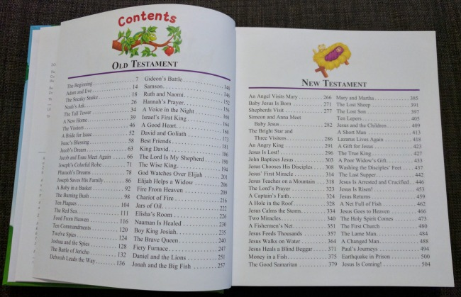 The Beginners Bible offers hundreds of pages of colorful stories