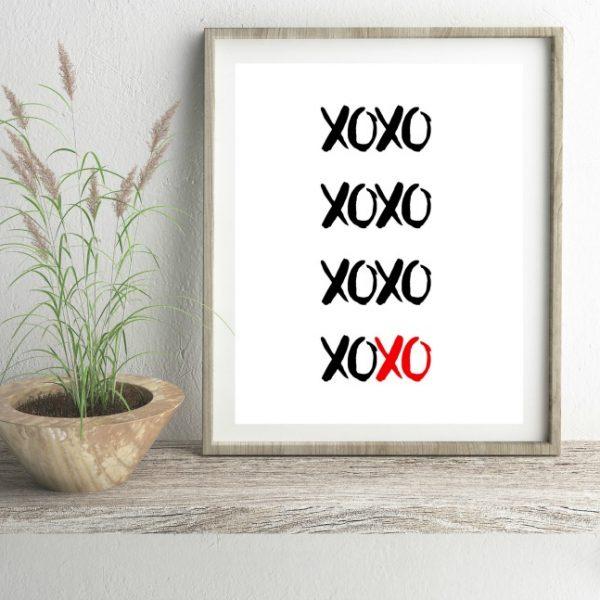Adorable Valentine's Day Printable Decor XOXO