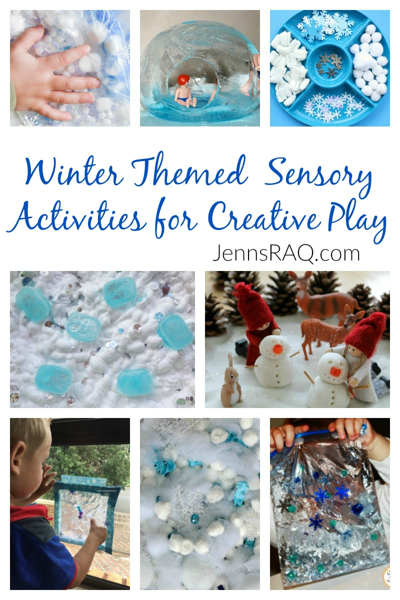 Winter Themed Sensory Activities for Creative Play as seen on JennsRAQ.com