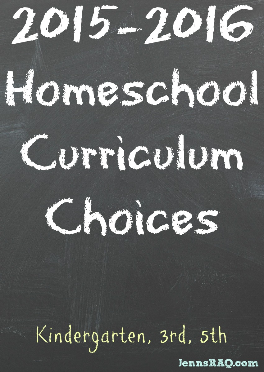 2015-2016 Homeschool Curriculum Choices from JennsRAQ.com