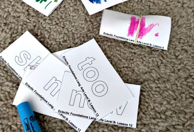 Eclectic Foundations Language Arts Level B - Word Cards