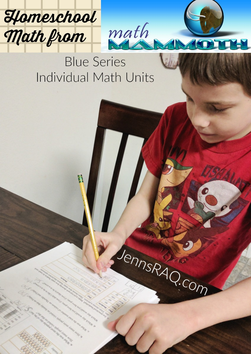 Math Mammoth Homeschool Math Curriculum is available in Blue Units covering individual math topics
