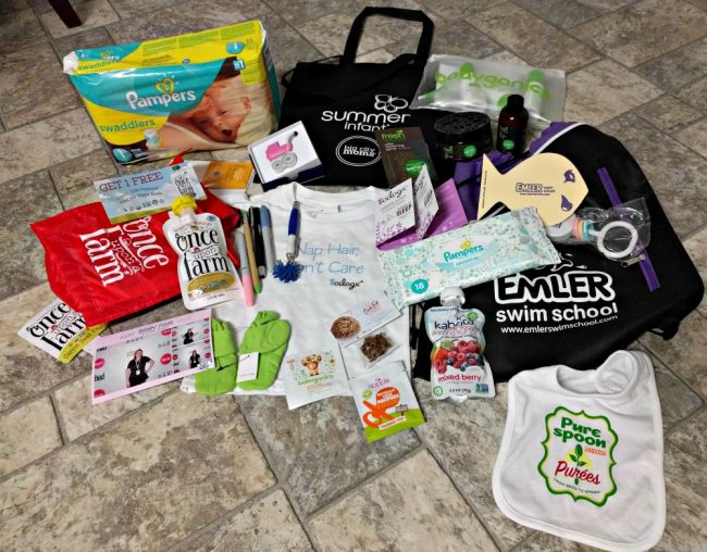 Dallas Big City Moms Biggest Baby Shower Samples and goodies