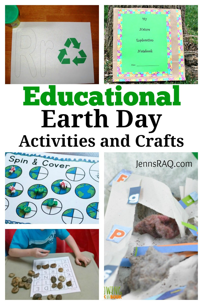 Educational Earth Day Activities and Crafts as seen on JennsRAQ.com