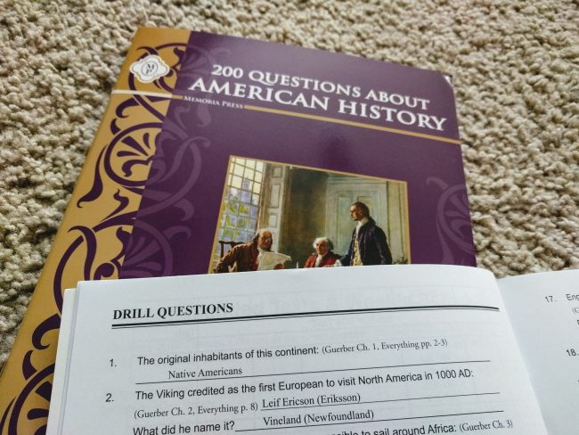 Memoria Press 200 Questions About American History