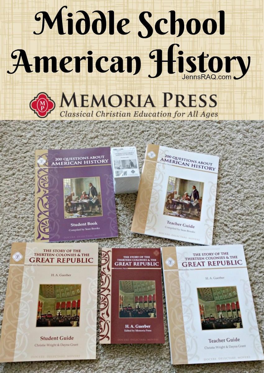 Memoria Press American History for the Logic Stage