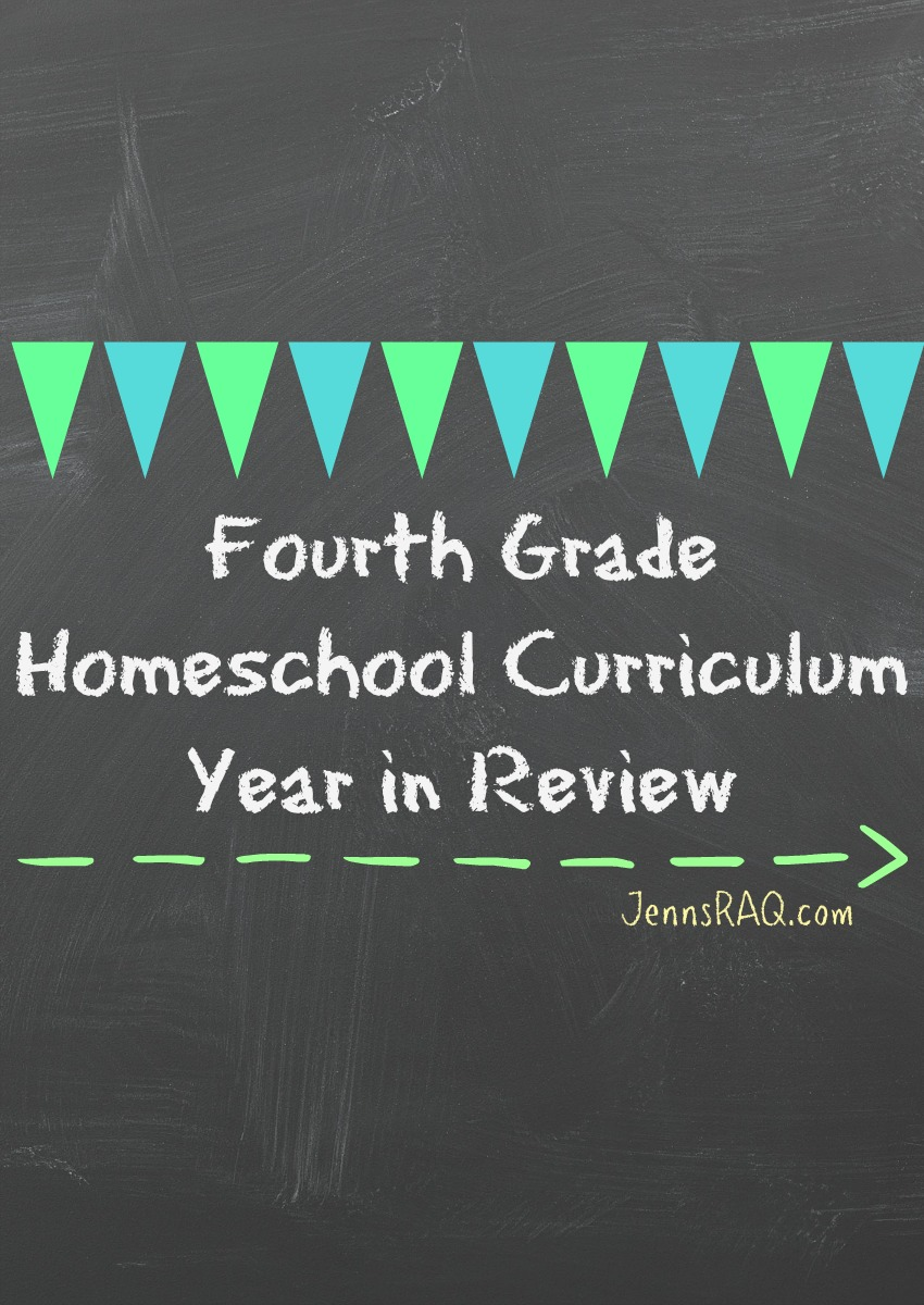 Fourth Grade Homeschool Curriculum - Year in Review as seen on JennsRAQ.com