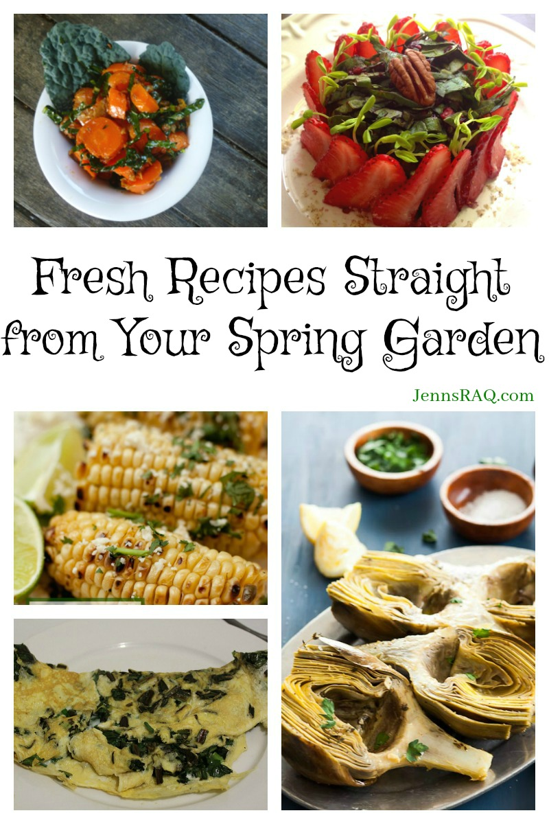 Fresh Recipes Straight from Your Spring Garden as seen on JennsRAQ.com