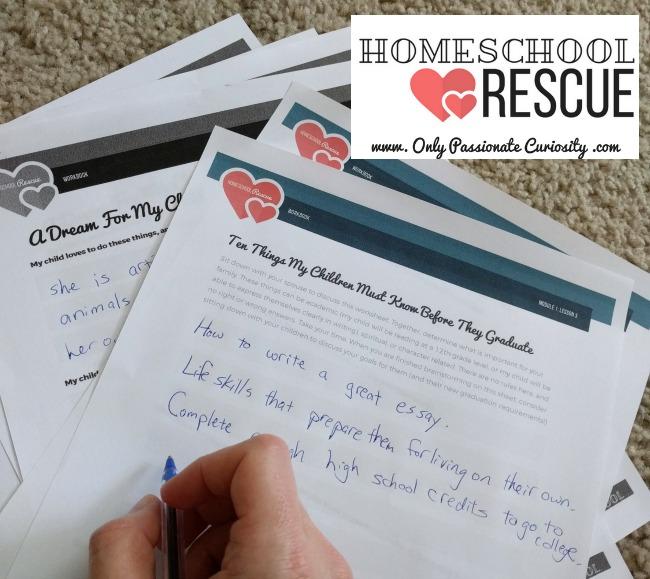 Homsechool Rescue eCourse as seen on JennsRAQ.com
