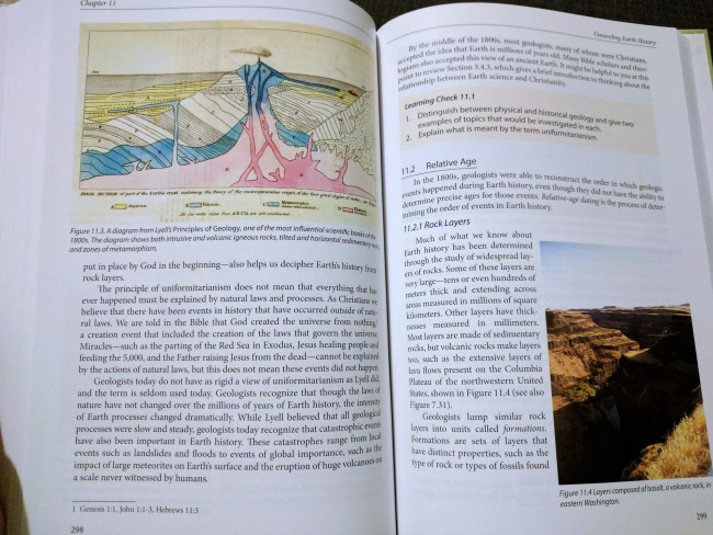 Novare Earth Science God's World Our Home sample pages
