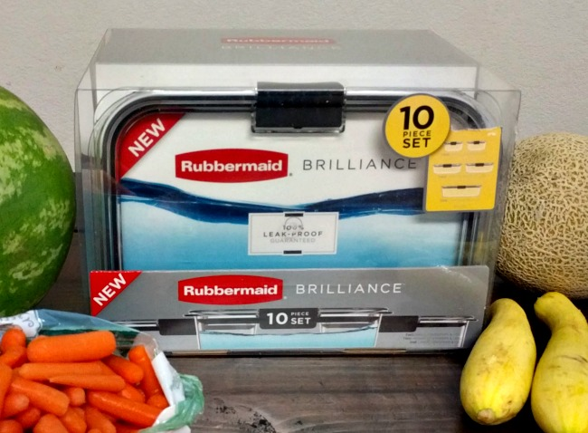 Snack Prep for Healthy Summer Eating - Rubbermaid BRILLIANCE 10 Piece Set