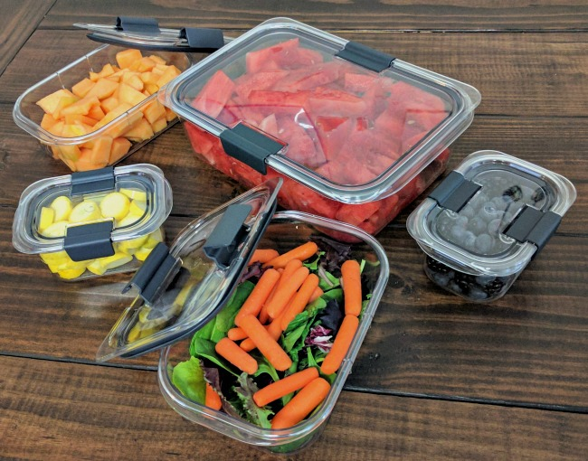 Snack Prep for Healthy Summer Eating - Rubbermaid BRILLIANCE food prep containers