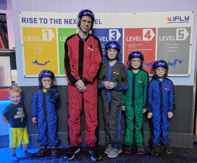 iFLY Fort Worth in Hurst Texas - All suited up and ready to fly