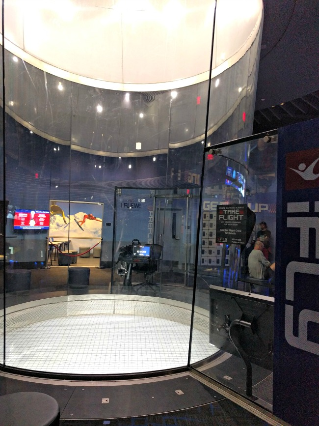 iFLY Fort Worth in Hurst Texas - Empty wind tunnel