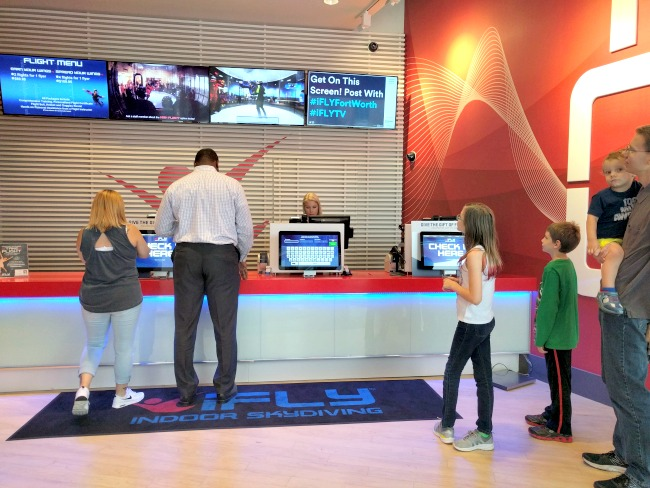 iFLY Fort Worth in Hurst Texas - Time to check in