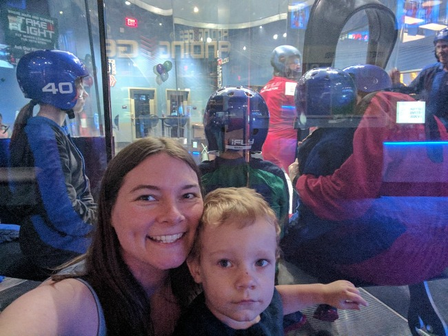 iFLY Fort Worth in Hurst Texas - Watching our family take flight
