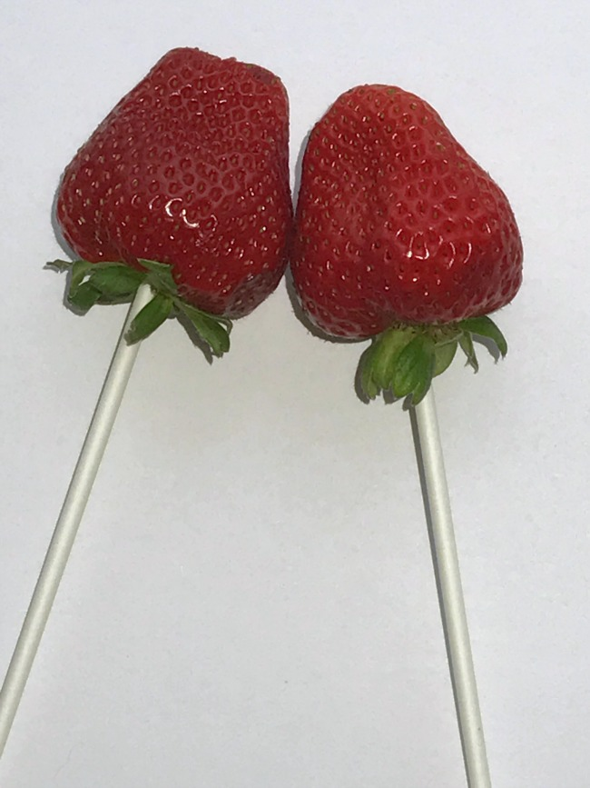 strawberries on a stick for patriotic strawberries