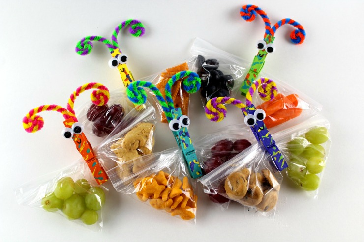 Butterfly Snack Bag - Perfect for School Lunches and after school snacks