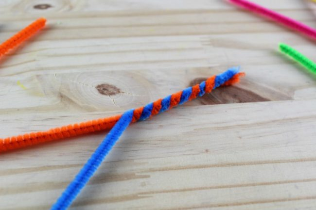 Butterfly Snack Bags - Pipe Cleaners Twisting