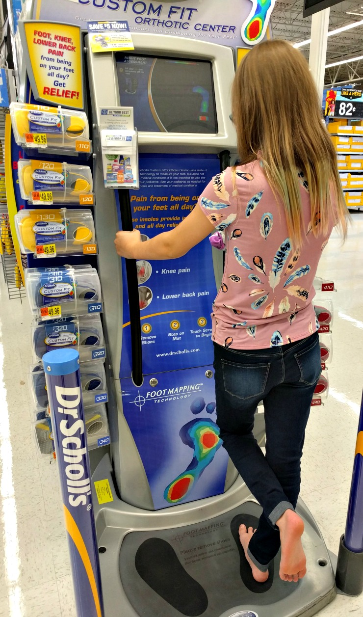 Dr. Scholl's ® experts in body biomechanics developed the advanced FootMapping ® technology used in the Custom Fit ® kiosk. This gathers different measurements of your feet and recommends our Custom Fit ® Orthotic Inserts that are right for you.