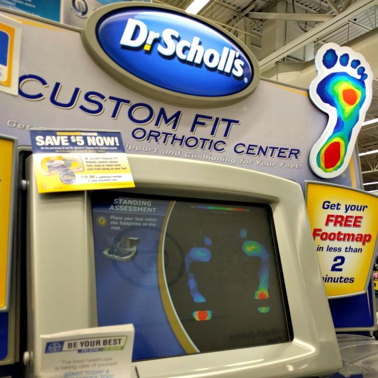 Dr. Scholl's Custom Fit Kiosk system standing assessment