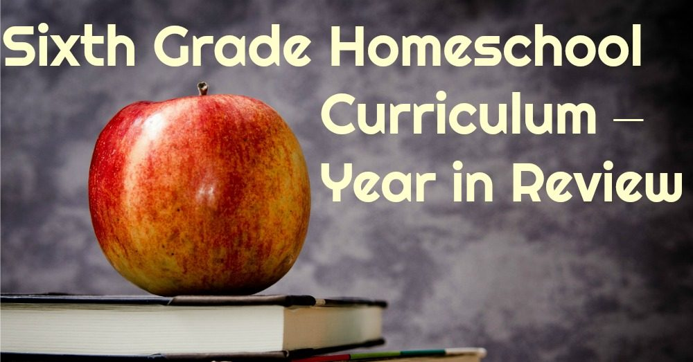 Sixth Grade Homeschool Curriculum – Year in Review