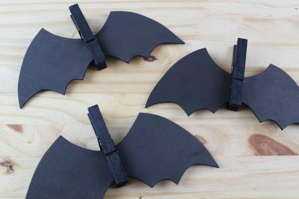 Spooky Bat Clothespin Magnets - Bat Wings - as seen on RealandQuirky.com