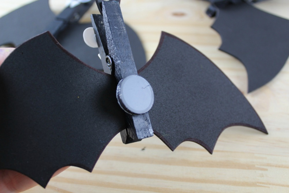 Spooky Bat Clothespin Magnets - Magnet On - as seen on RealandQuirky.com
