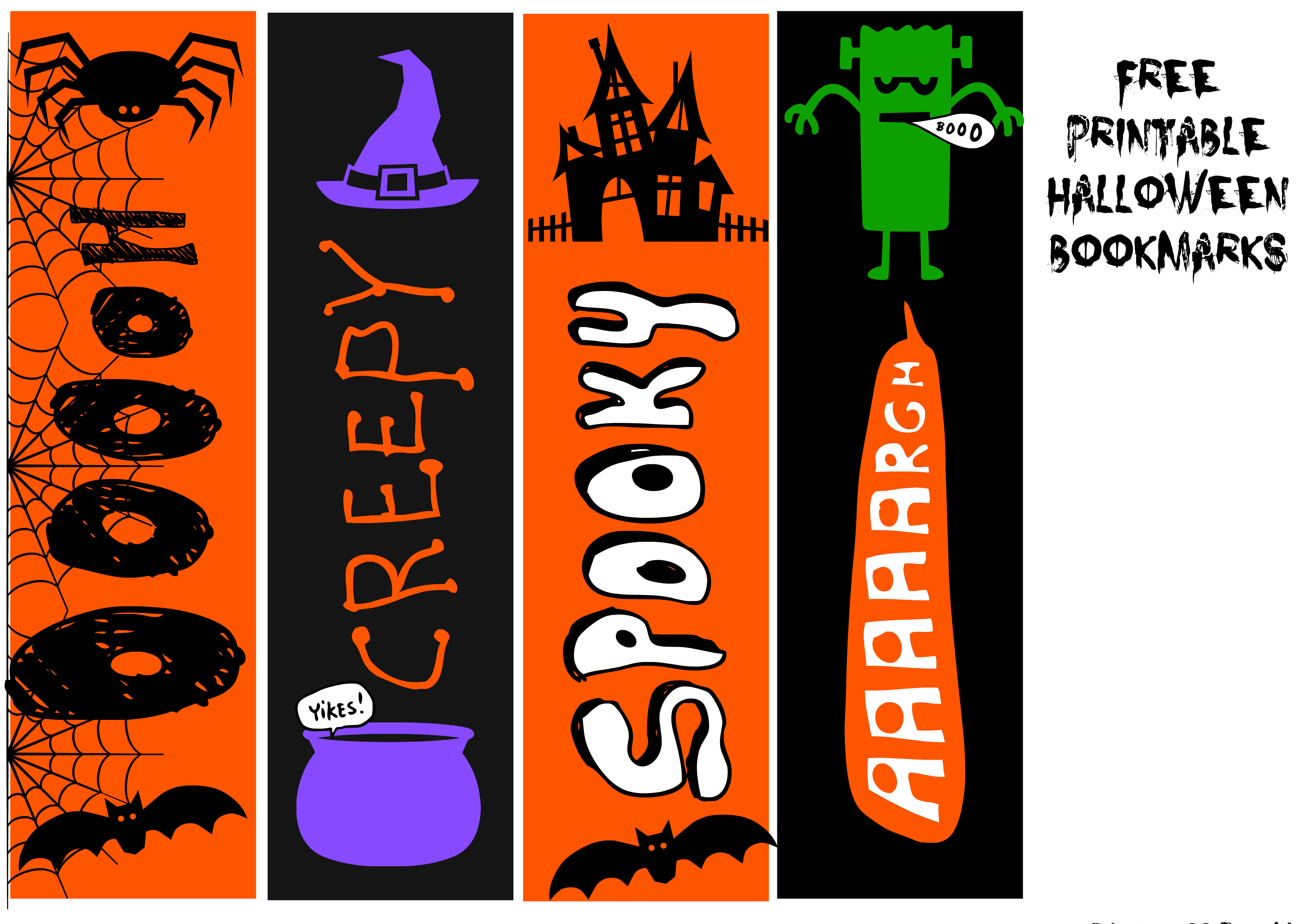 Printable Halloween Bookmarks and Other Treats for Trick or ...