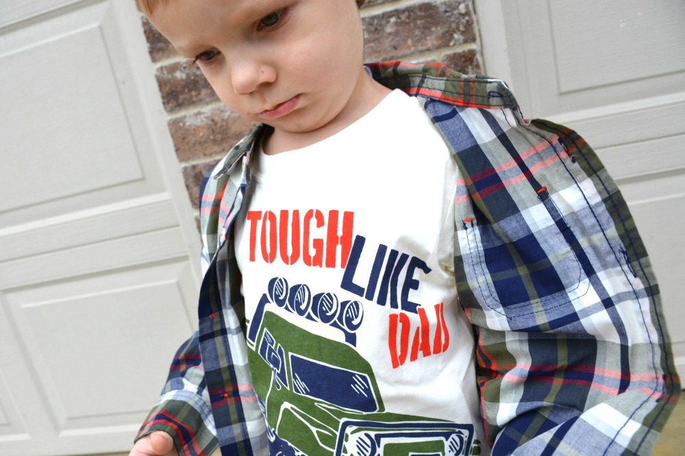 Adorable Fall Fashion for Toddlers at a Great Price - Tough Like Dad t-shirt