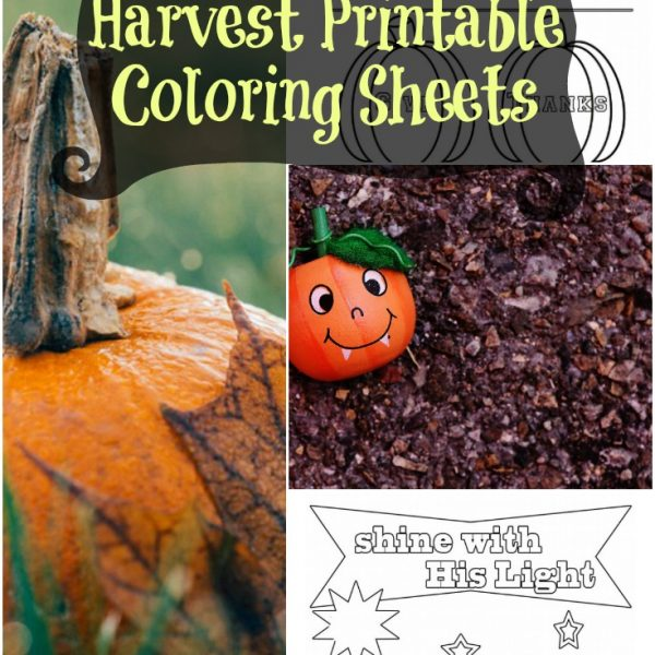 Christian Fall Harvest Printable Coloring Sheets