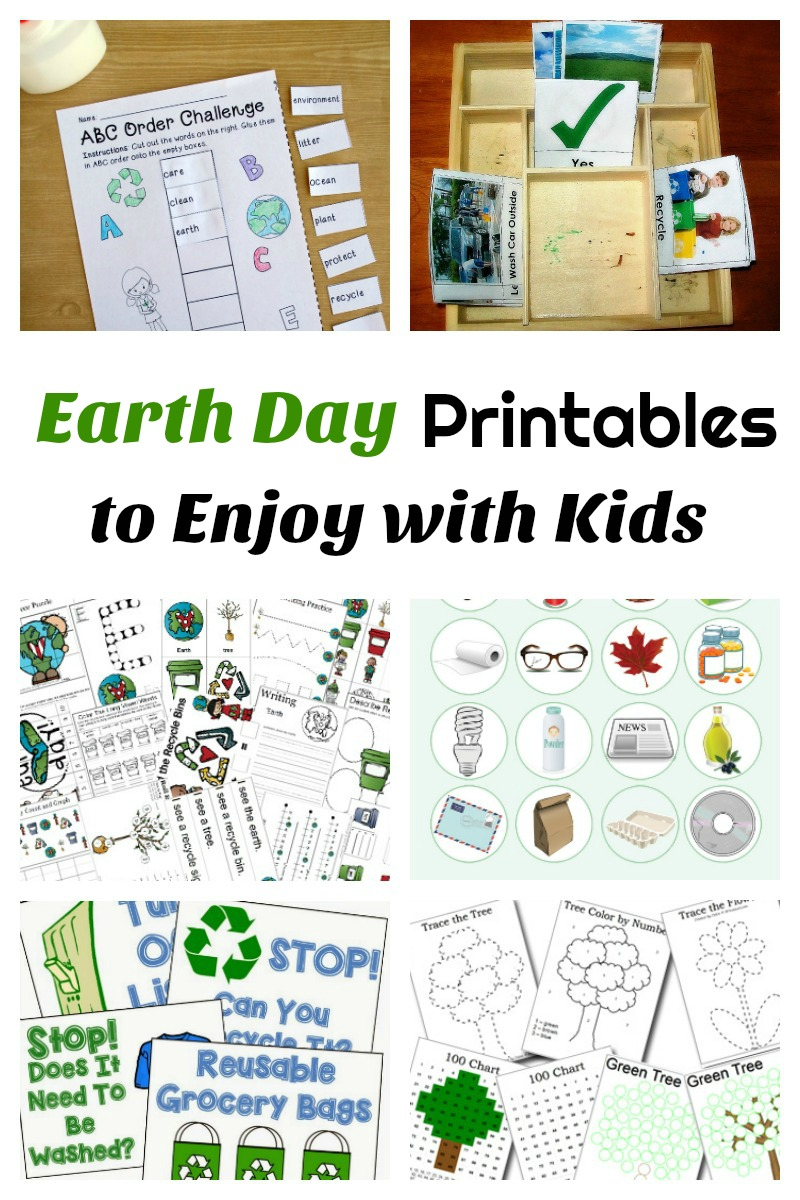 Earth Day Printables to Enjoy with Kids