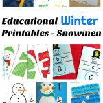 Educational Winter Printables – Snowmen