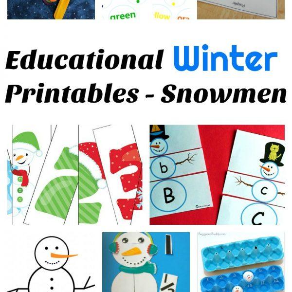 Educational Winter Printables – Snowmen