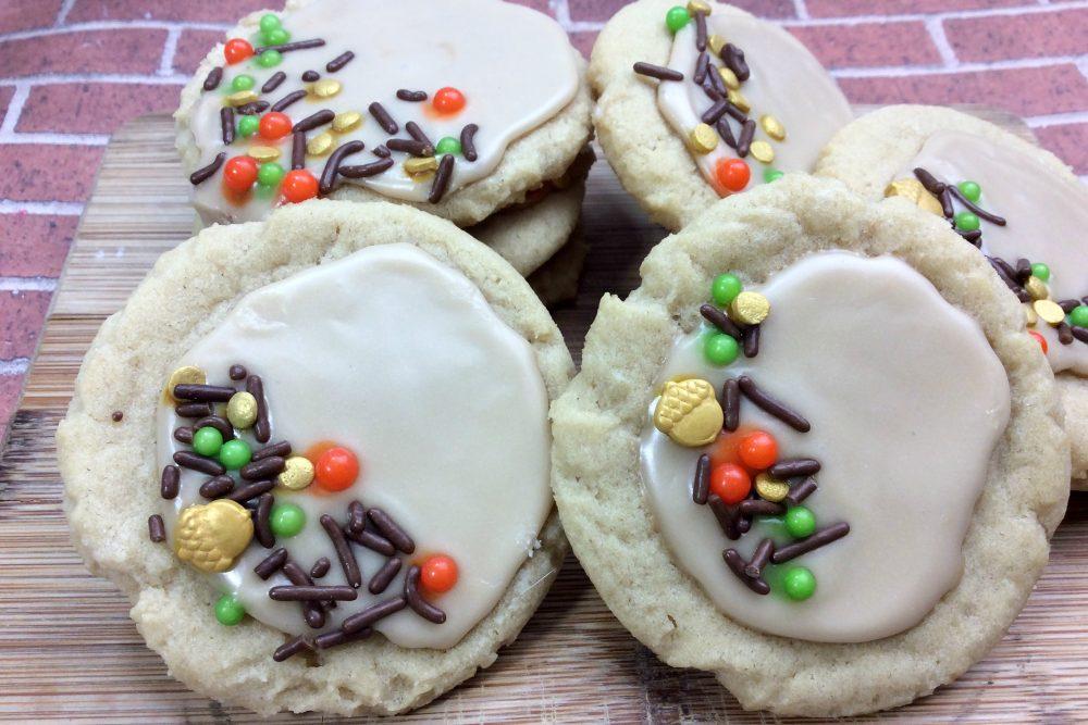 Iced Maple Sugar Cookies