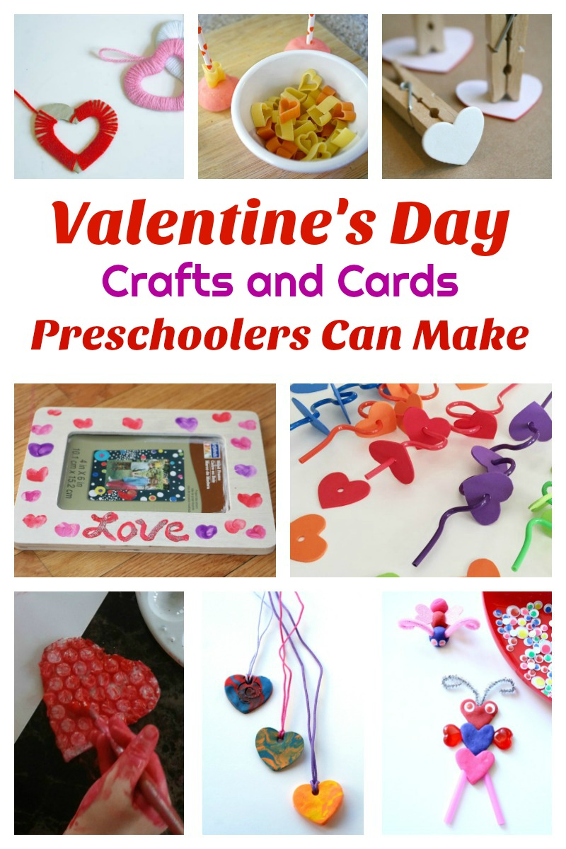 Valentine's Day Crafts and Cards Preschoolers Can Make