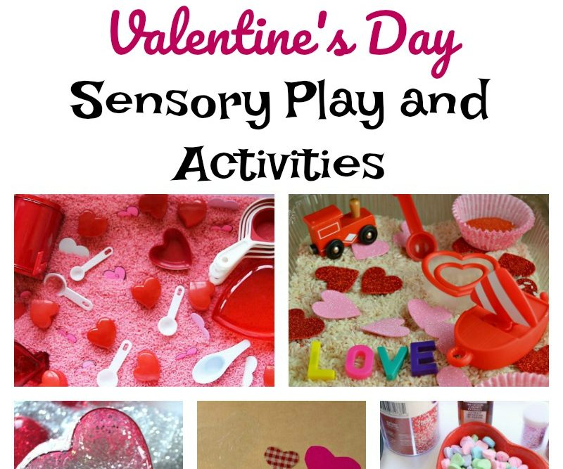 Valentine's Day Sensory Play and Activities
