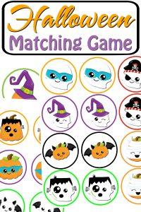 Halloween Matching Game Printable