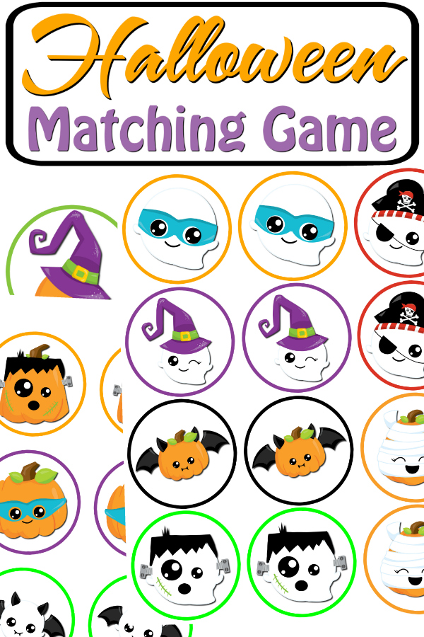 Halloween Matching Game Printable