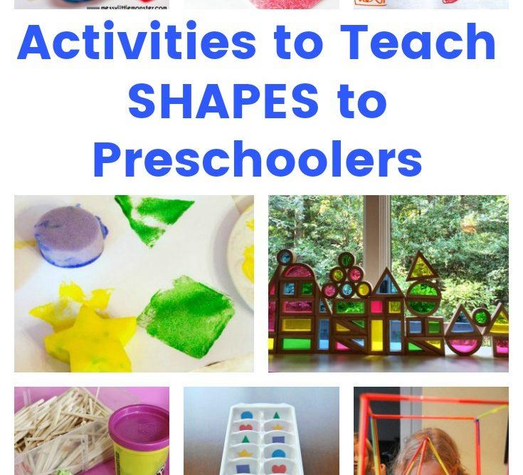 Activities to Teach SHAPES to Preschoolers