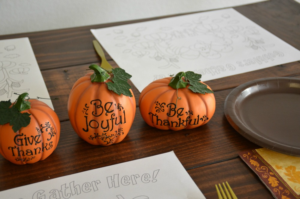 Thanksgiving Table Ideas and Inspiration - Pumpkins add a beautiful fall touch