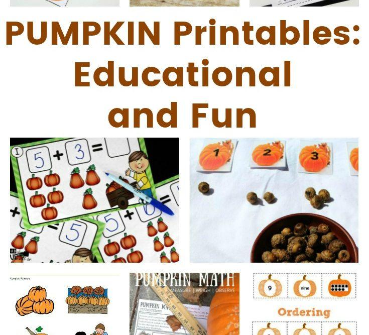 PUMPKIN Printables – Educational and Fun