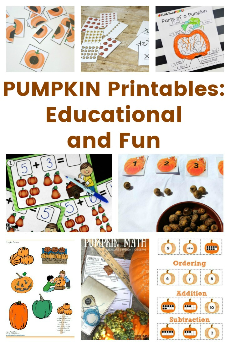 PUMPKIN Printables - Educational and Fun