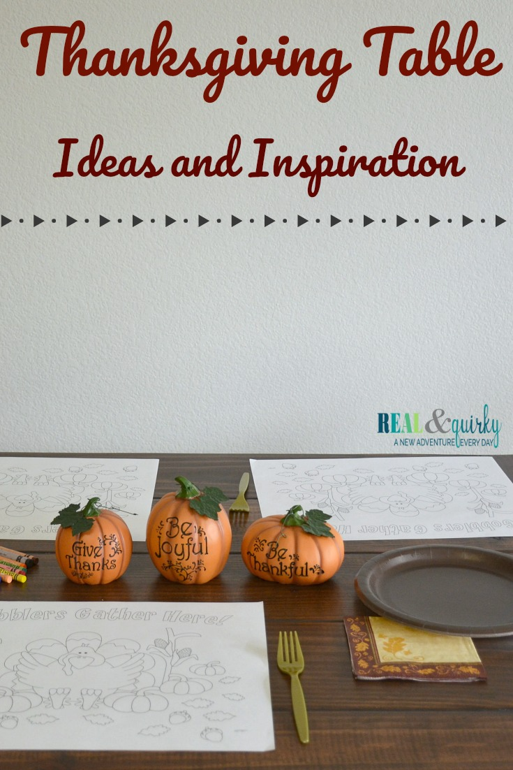 Thanksgiving Table Ideas and Inspiration as seen on RealandQuirky.com