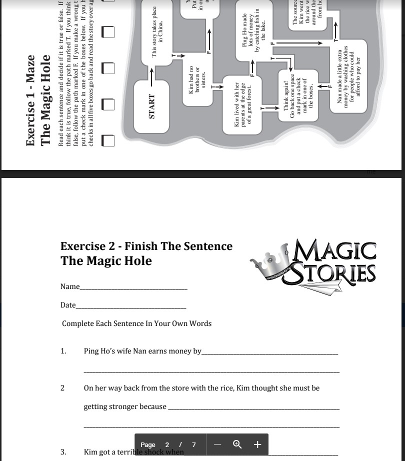The Magic Stories - Exercises for each book