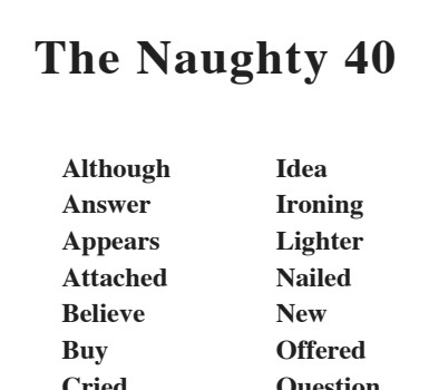 The Magic Stories - The Naughty 40 Words for each Book