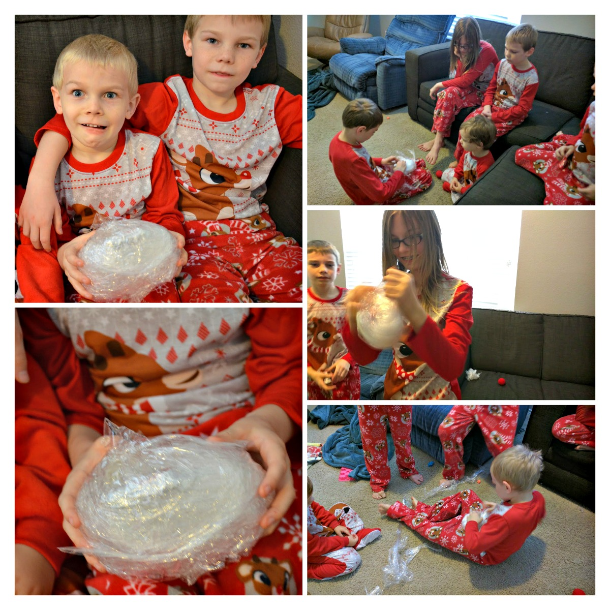 9 Christmas Traditions to Start THIS Year - Saran Wrap Ball